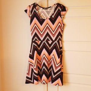 Chevron Print Dress Large